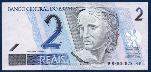 brasil 2010, billete de 2 reais