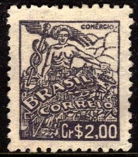 brasil 487 netinha comércio fil. q com traços no verso n