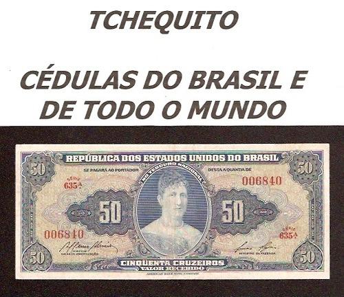 brasil 50 cruzeiros c027 sob cédula - tchequito