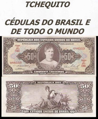 brasil 50 cruzeiros c090 s/fe cédula - tchequito