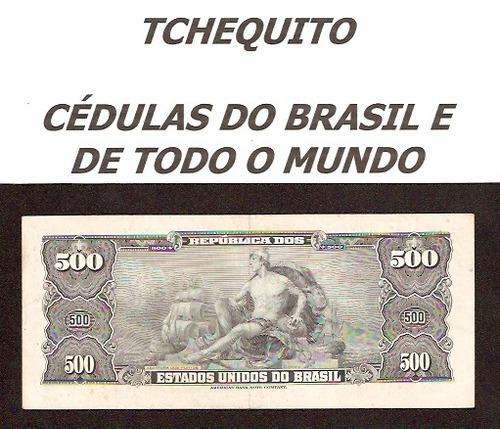 brasil 500 cruzeiros c045 sob cédula - tchequito