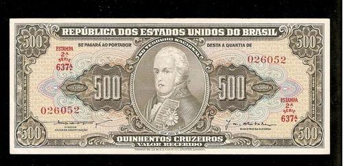 brasil 500 cruzeiros c101 s/fe cédula - tchequito
