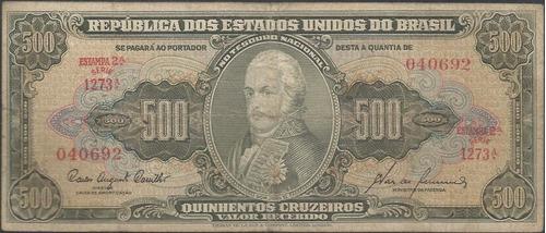 brasil 500 cruzeiros nd1955-60 p164d