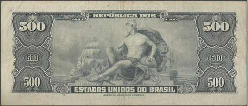 brasil, 500 cruzeiros nd1962 p172b