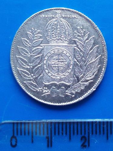 brasil - 500 réis - moeda de prata 1852
