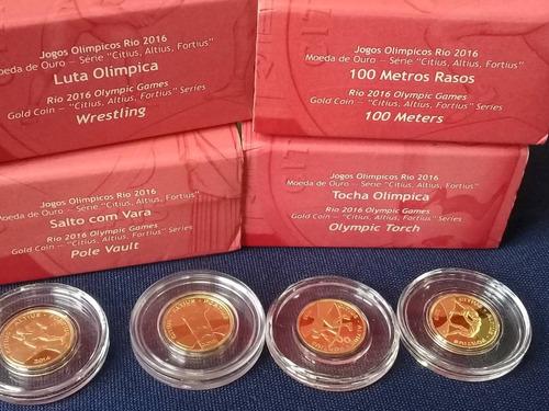 brasil - coleção com 4 moedas de ouro olimpiadas - completa