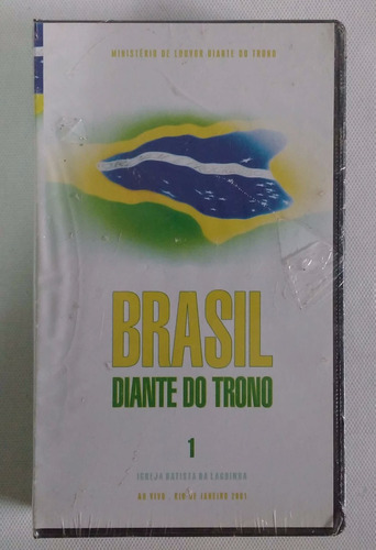 brasil diante do trono ao vivo rj fita vhs (vídeo) lacrada