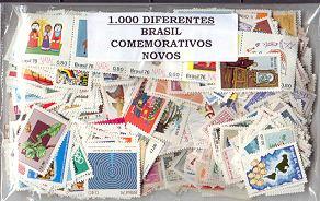 brasil - excepcional conjunto - 1000 estampillas