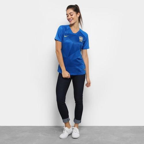 6ca0001b0f camisa brasil feminina azul - copa do mundo 2018 · camisa brasil feminina · brasil  feminina camisa