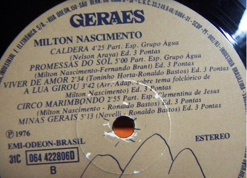 brasil, milton nascimento, geraes, lp 12´