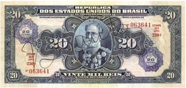 brasil réis cédulas reis