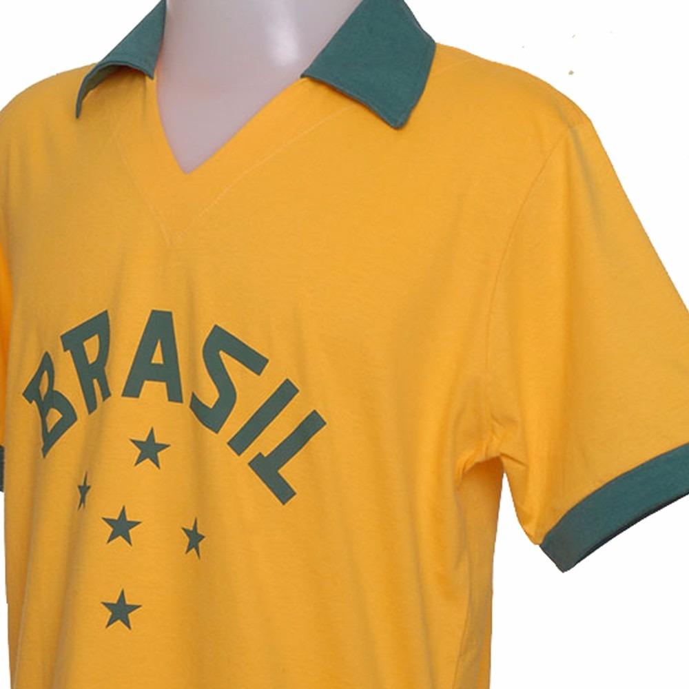 4a137b9ef2 Carregando zoom... camisa retro do brasil 1952 olimpiadas seleção brasileira  52