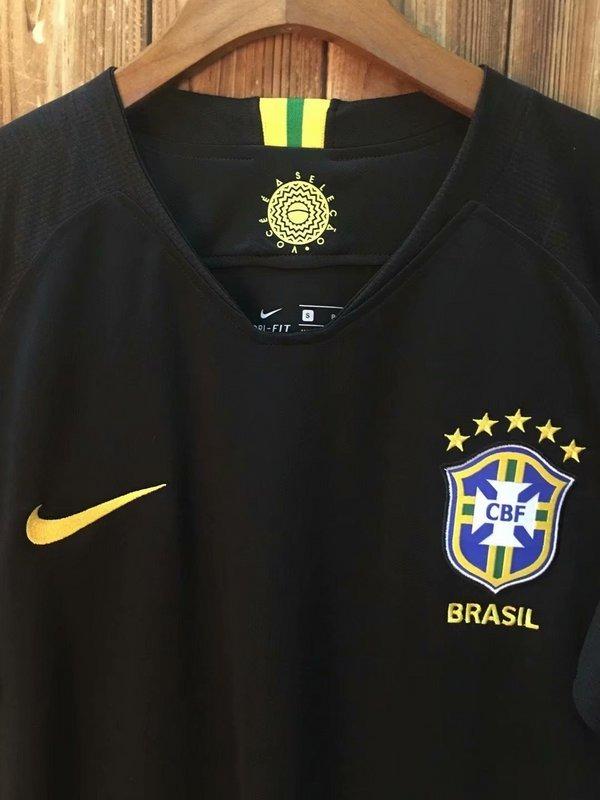 Carregando zoom... camisa brasil goleiro copa russia 2018 preta seleção nike 8d4a4417bc0fc