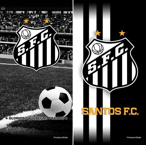 debec1686b41d Brasileirao! 02 Toalhas Banho praia Futebol Santos Oficial - R  125 ...
