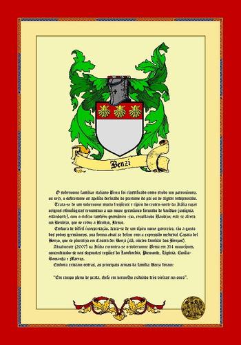 brasão de família - histórico do sobrenome - via  email