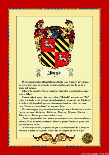 brasão medieval de seu sobrenome - via  email