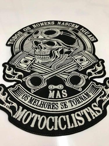 brasão moto clube motociclista patch termocolante