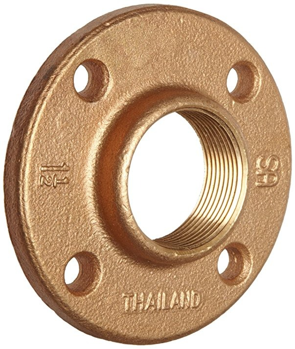 Direct Flooring Fitting: Brass Pipe Fitting, Clase 125, Suelo De Brida, 1/2 X 1/2 N