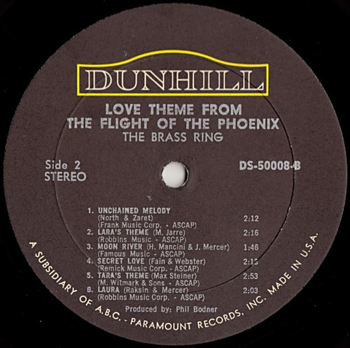brass ring - lp love themes / flight of the phoenix 1966 imp