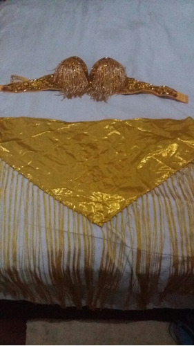 brassiere de abalorios dorados talla m/l