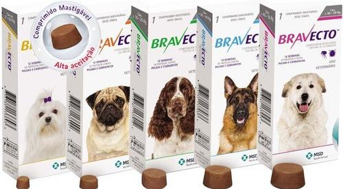 bravecto comprimido para cães de 20 a 40kg - frete gratis