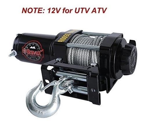 bravex electric 12v 3500lb1591kg cabestrante de una línea p
