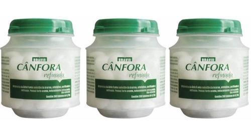 bravir cânfora pastilhas arredondadas c/200 (kit c/03)
