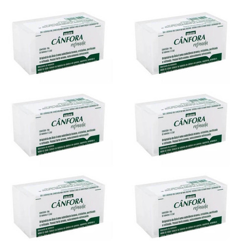 bravir cânfora tabletes c/8 (kit c/06)