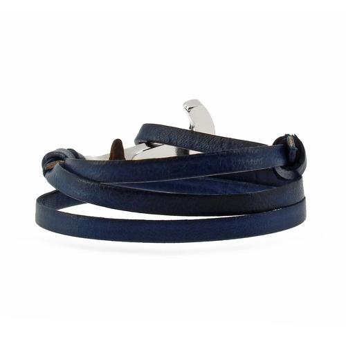 brazalete ancora like patina azul alp-np-pl-3 ajustable