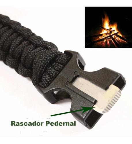 brazalete cuerda sobrevivir iniciar fuego pitar pesca #5