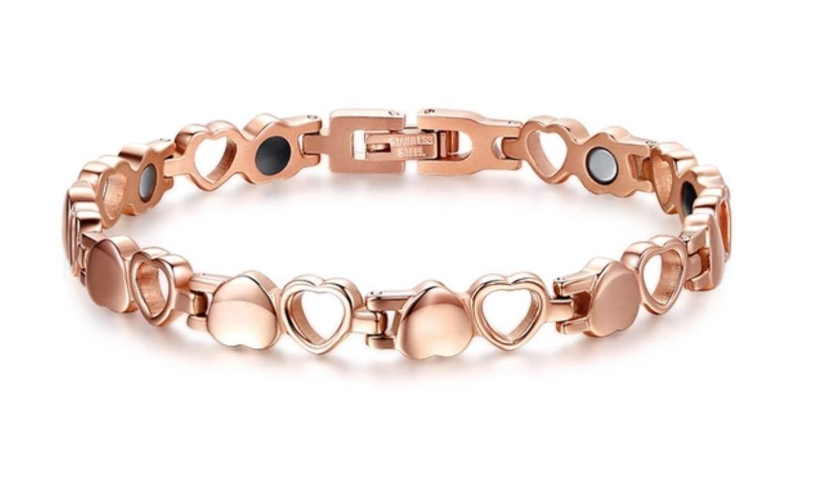 b8697d22bc40 brazalete de acero inoxidable oro rosa para mujer. Cargando zoom.