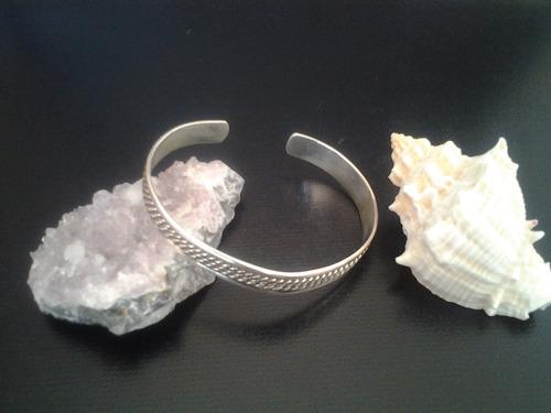 brazalete de plata 925 unitalla unisex