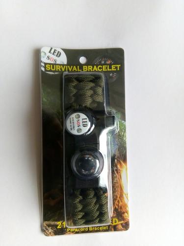 brazalete de supervivencia 20 en 1 -  sos - luz led