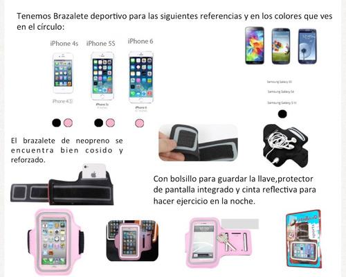 brazalete deportivo iphone 6/6s/5/5s/5c/4s nano7 s3 s4 s5