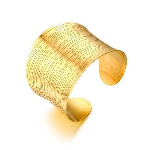 bastante agradable 38971 daca2 Brazalete Dorado Pulsera Para Mujer Fabricado En Acero Sb2