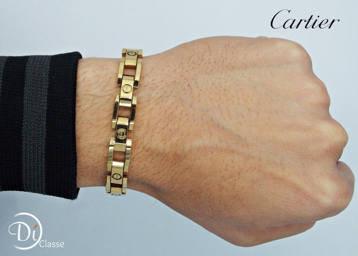 5dc53e27fef brazalete esclava cartier love hombre acero oro king 1.2 cm. Cargando zoom.