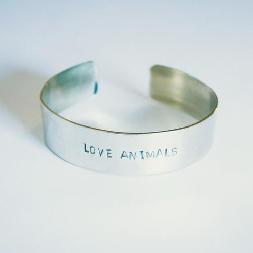 brazalete esclava love animals (5 mm.)