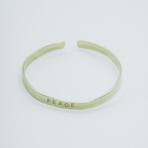 brazalete esclava peace (5 mm.)