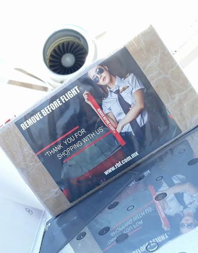brazalete fly black-platinum - remove before flight®
