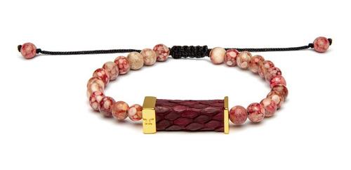 brazalete galla oro pulido color rosado galc-op-ex4-cu-86