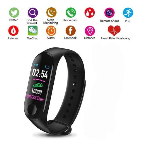 brazalete inteligente pulsera reloj contador pasos calorías