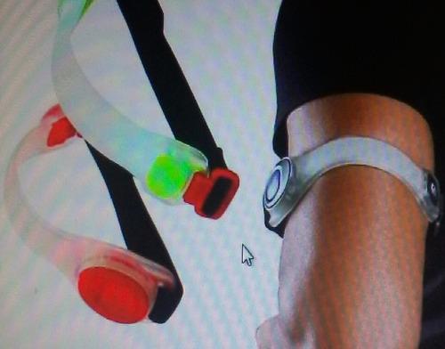 brazalete led,reflectivo para ciclista,caminadores dos model