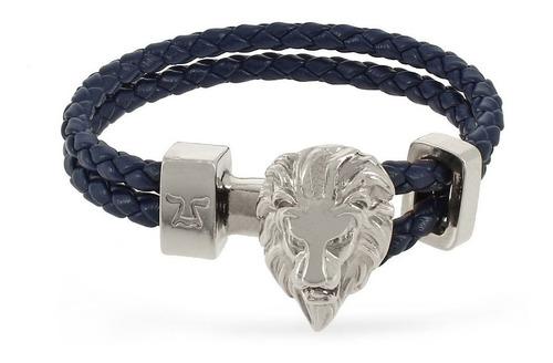 brazalete león semicaucho azul lsc-np-sc-3