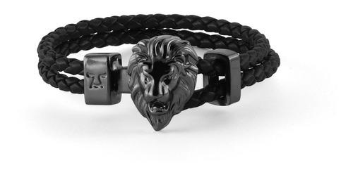 brazalete león semicaucho negro lsc-nn-sc-1