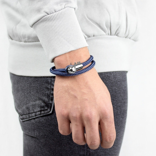 brazalete lucio textil azul lctx-np-txpro-3