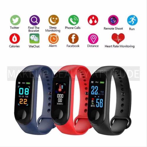 brazalete manilla inteligente pulsera reloj contador pasos