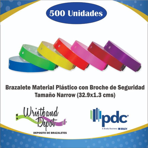 brazalete manilla plástico broche tamaño narrow (500u)