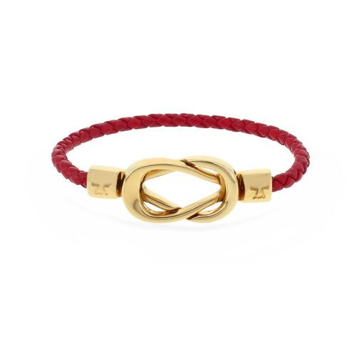 brazalete moru oro pulido y semicaucho rojo