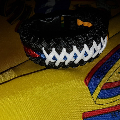 brazalete pulsera de venezuela paracord dama caballero niño