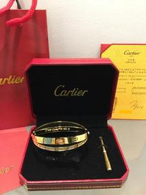 4fa384560e3b Brazalete Pulsera Dorada Cartier Diamante